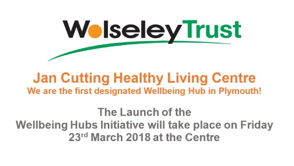 The Jan Cutting Healthy Living Centre is the first designated Wellbeing Hub in Plymouth!